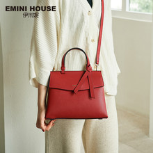 EMINI HOUSE 2 Sizes Bow Tie Luxury Handbags Women Bags Designer Litchi Grain Split Leather Shoulder Bag Crossbody Bags For Women(China)