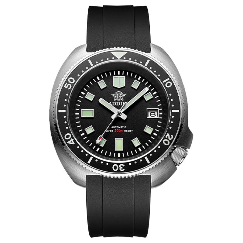 1970 Abalone Dive Watch 200m Sapphire crystal calendar NH35 Automatic Mechanical Steel diving Men's watch 9