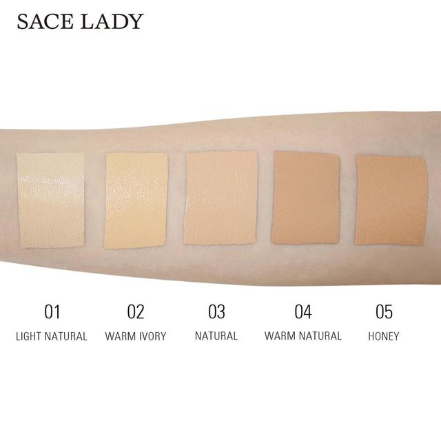 SACE LADY Full Cover Pro Concealer Cream Makeup Face Corrector Liquid Make Up Base For Eye Dark Circles Facial Natural Cosmetic 3