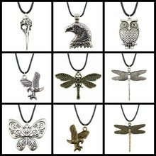 1PCS party gift Antique Pendant charms Flying bird child jewelry hand made silver jewelry gift(China)
