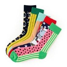 1 пара Хлопковых Носков, уличная одежда, модные носки в стиле хип-хоп, теплые спортивные носки в стиле Харадзюку