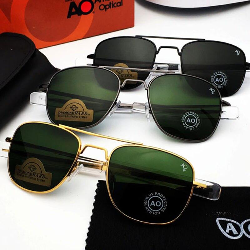 Aviation Sunglasses Men 2019 American Army Military Optical AO Sun Glasses driving glasses Oculos de sol masculino|Men