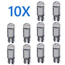 10X светодиодный T10 W5W Cob Стекло автомобильный светильник лампочка 6000K белый авто номерного знака купол читать DRL лампа Стиль 12V желтый красные,...