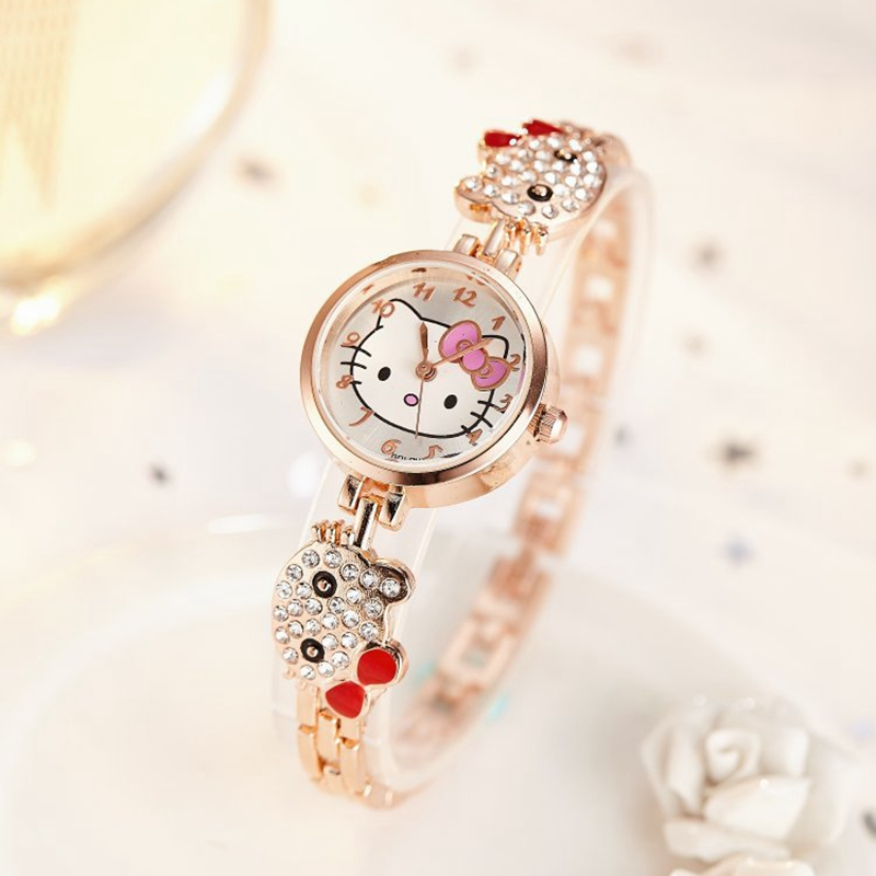 2019 New Reloj Children Watches For Girls Cartoon Lovely Bracelet Student Girl Watch Cute Quartz Watch Birthday High Quality