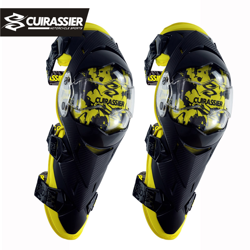Cuirassier Motorcycle Motocross Kneepad Off Road Racing Knee Brace Elbow Pads Safety MX Protection Guards Protective