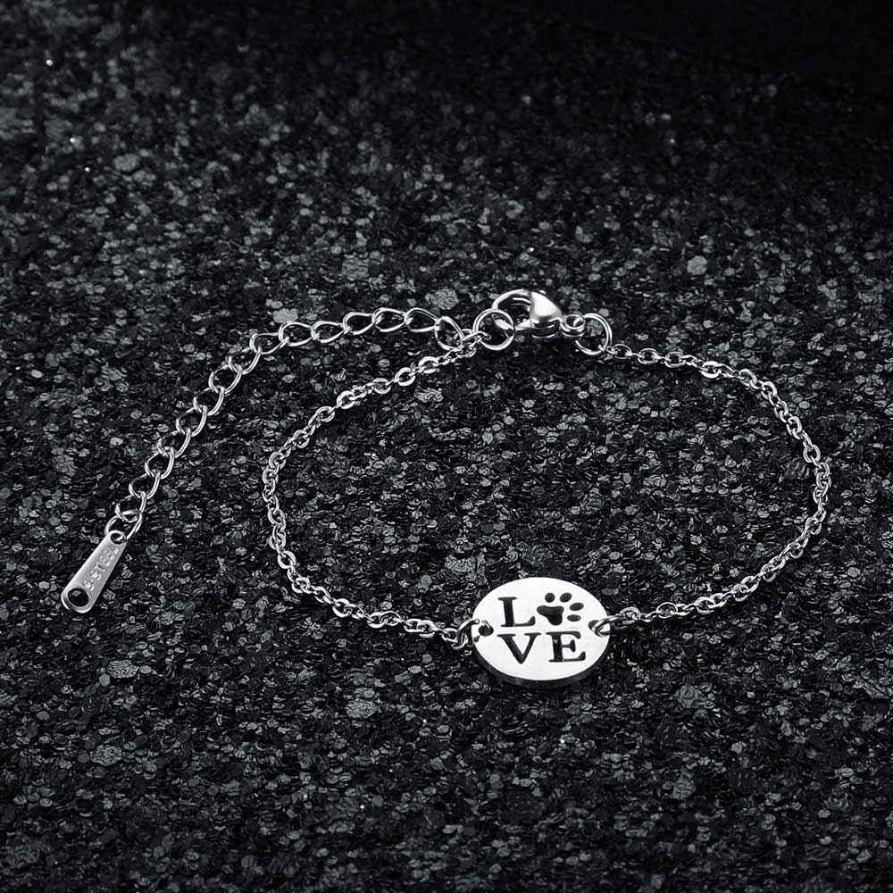AAAAA Quality 100% Stainless Steel Love Pet Law Charm Bracelet for Women Female High Polish Charms Bracelets Fabulous Bracelet