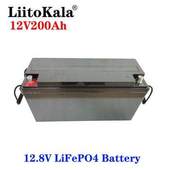 LiitoKala-batería LiFePO4 de 12V, 200Ah, para RV, camping, coche de Golf, resistente al agua para barcos y pequeñas embarcaciones, 3000 ciclos, energía Solar fuera de la red, 150A BMS 2