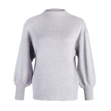 Fashion Knitted Women Pullover Sweater Lantern Sleeve Crew Neck Solid Jumper Ladies Autumn Winter Clothes Jerseys Mujer Moda цены онлайн