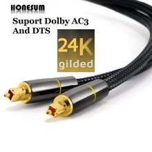 Honesum spdif 5.1 dolby 7.1 soundbar toslink cabo de fibra banhado a ouro digital óptica coaxial caixa de tv cabo de áudio fibra óptica