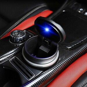 Стайлинг автомобиля, светодиодсветильник огнестойкая автомобильная пепельница, чашка для хранения мусора для Mitsubishi, KIA, Lexus, BMW, Audi, Toyota, Honda, Chevrolet|Пепельница в авто|   | АлиЭкспресс