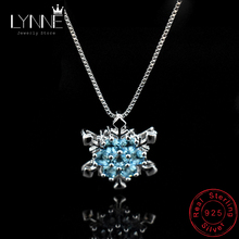 New Arrival Christmas Gift 925 Sterling Silver AAA Cubic Zirconia Snowflake Pendant Necklace For Women Wedding Necklaces Jewelry banbu new arrival 925 sterling silver necklaces jewelry polishing process plate gold necklace women hot sale best gift for girls