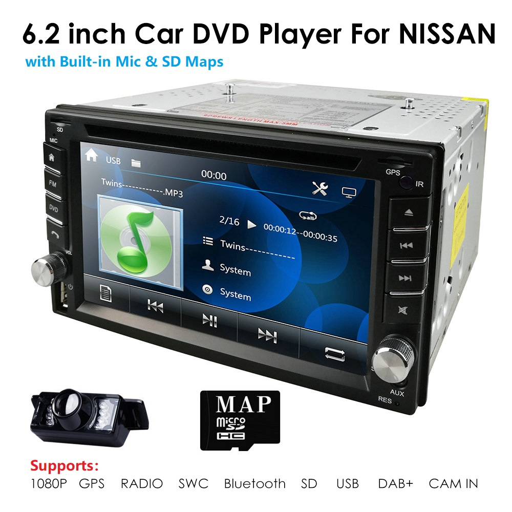 Universal Car Radio Double 2 Din Car DVD Player GPS Navigation In Dash 2din Car PC Stereo Head Unit Video RDS USB Free Map Cam