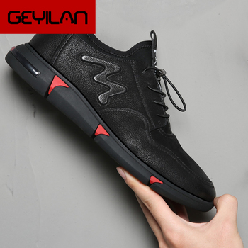 Elevator Shoes For Men Black Sneakers Leather Shoes Men Fashion Sports Shoes For Male Mens Trainers Chaussures Homme Luxe