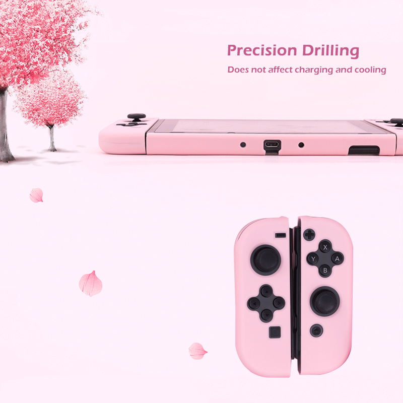 Image 3 - For Nintendo Switch Case Joy Con Controller Full Cover Shell Colorful Pink Hard Housing Shell For NintendoSwitch Game ConsoleCases   -