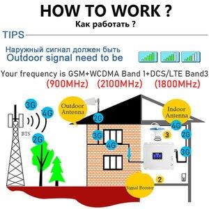 Image 3 - Усилитель сотового сигнала Lintratek, 2G 3G 4G GSM трехполосный 900 DCS 1800 WCDMA 2100