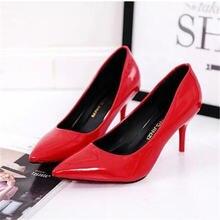 Горячая Распродажа! Женская обувь туфли лодочки с острым носком