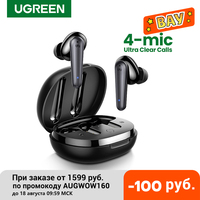 UGREEN HiTune T1 auricolari Wireless con 4 microfoni TWS Bluetooth 5.0 auricolari True Wireless Stereo 24H riproduzione USB C carica auricolari