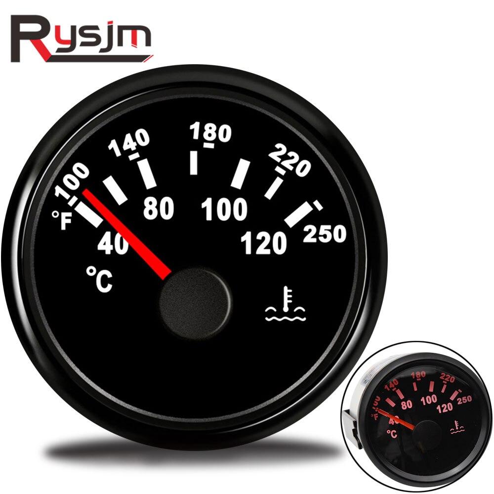 52mm Auto Wasser Temperatur Gauge 40-120 100-250 Fahrenheit 9-32V meter Wasserdicht Wasser temp Gauge racing motorrad Auto Yacht