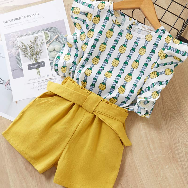 H6ee0d93702a8443bbd13355a7312e700o Melario Kids Girls Clothing Sets Summer Baby Girls Clothes T-Shirt and Jeans Shorts Suit 2Pcs Children Clothes Suits