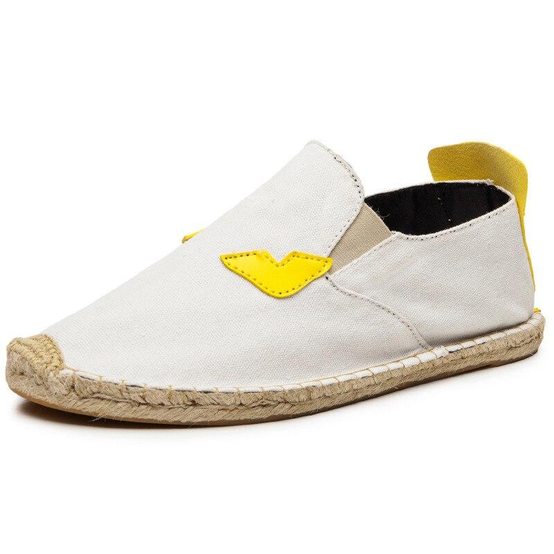 Ev ve Bahçe'ten Ayakkabı Rafları ve Organizatörleri'de Balıkçı ayakkabı gentry feng shang ayak örtüsü kenevir halat ayakkabı 2017 yeni ürünler kanvas ayakkabılar bir Pedal tembel ayakkabı fabrikası title=
