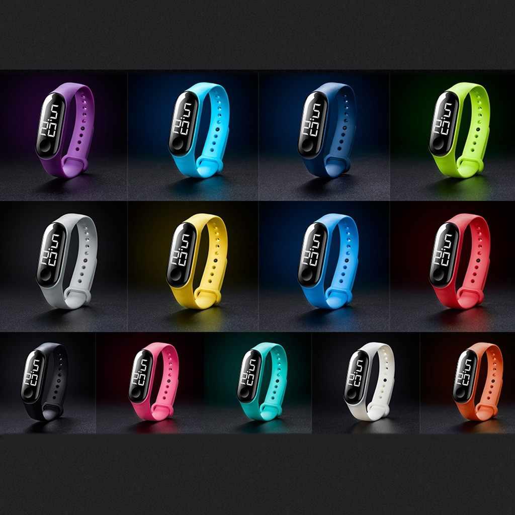 Smart watch LED Electronic Sports Sensore Luminoso Orologi di Moda Gli Uomini e Le Donne Orologi Vigilanza di Modo degli uomini