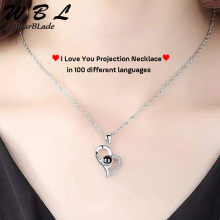 Initial Necklace I Love You 100 Language Gifts for Women Friends Jewelry Accessories Romantic Number Pendants Femme Lover Gift(China)