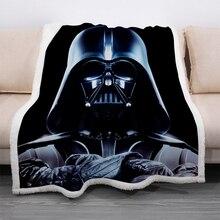 Star Wars Soft Warm Coral Fleece Blanket Winter Sheet Bedspread Darth Vader Sofa Throw Light Mechanical Wash Flannel Blankets
