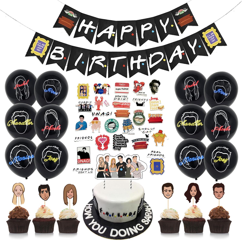 68 шт друзей тематическая вечеринка на день рождения украшения торт фигурки жениха и невесты; Баннер на день рождения латексный наклейки на ...