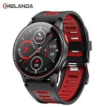 2021新規スマート腕時計IP68防水スポーツ男性女性のbluetoothスマートウォッチフィットネストラッカー心拍数モニターアンドロイドios用