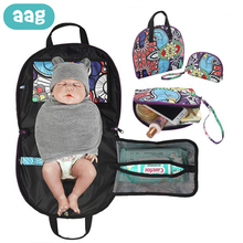 AAG Portable Baby Changing Table Station Diaper Bag Changer Newborn Pad Floor Mats Folding Massage Stretcher