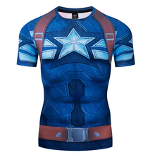 Man's T shirts Captain America series  3D Printed Compression  T-shirts Top Fitness Summer Tights  Short Sleeve
