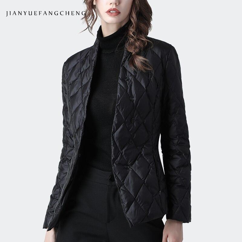 Fashion Women Winter Down Jacket Black Slim Short Duck Down Coat Warm Thickened Lightly Winter Top Korean Casual Down Jackets