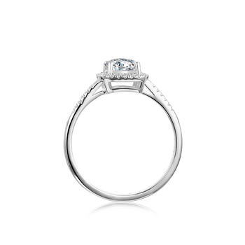 BOEYCJR 925 Silver Heart 1ct F color Moissanite VVS1 Elegant  Engagement Wedding Ring With national certificate for Women Gift 2