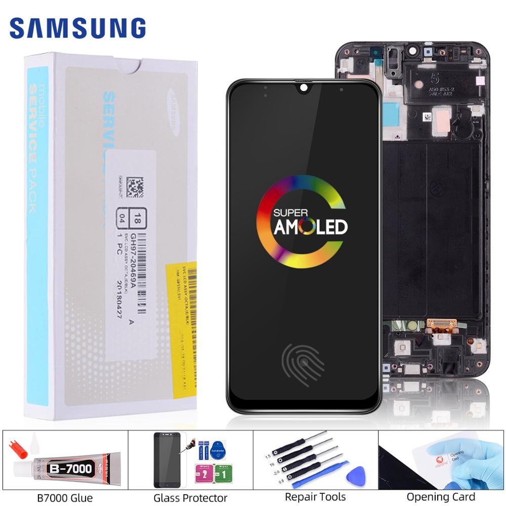 Original For Samsung Galaxy A50 SM-A505FN/DS A505F/DS A505 LCD Display Touch Screen Digitizer Assembly For Samsung A50 LCD image