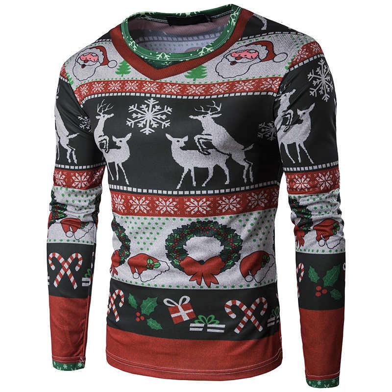 3D Рождественская футболка с принтом для мужчин футболка с Санта Клаусом Homme Harajuku Хип Хоп забавные Camisetas облегающие Топы
