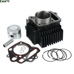 Motorrad 52,4mm Bohrung Stahl Zylinder Kolben Dichtung Kit Für Lifan 125cc LF125 Horizontale Motoren Dirt Pit Affe Fahrrad ATV