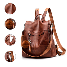 Women Backpack Large Capacity School Bags Multifunction Leather Travel Backpack Lady Designer Elegant Shoulder Bag Female real cowhide backpack 2019 large capacity women backpack 100% genuine leather lady travel bag daily casual knapsack schoolbag female designer backpack bolsas
