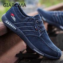 New Canvas Shoes Men Casual Sneakers Breathable Vulcanize