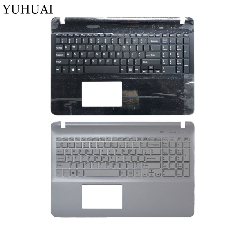 For sony Vaio SVF152A29M SVF15E svf1521p1r  US keyboard white Palmrest Cover