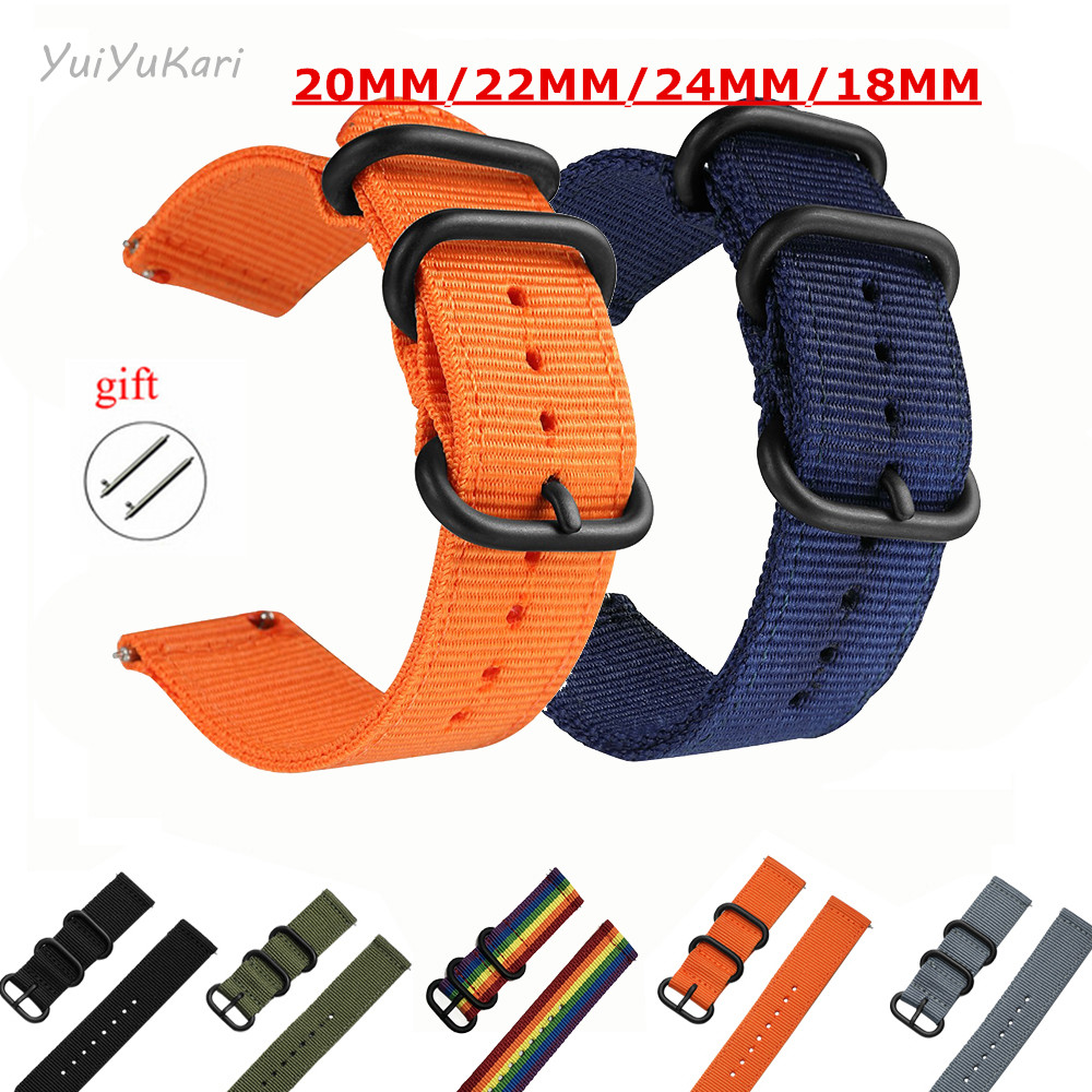 Woven Nylon Watch Sport Strap Band For Samsung Gear S3 S2  Frontier Galaxy Watch 18MM 24MM 22MM 20MM Active Watch Band