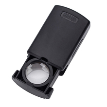 30X 21mm Hobbies Buttery Powered Portable Optical Lenses Loupe Repairing Foldable Magnifying Glass Pull Type LED Lighted