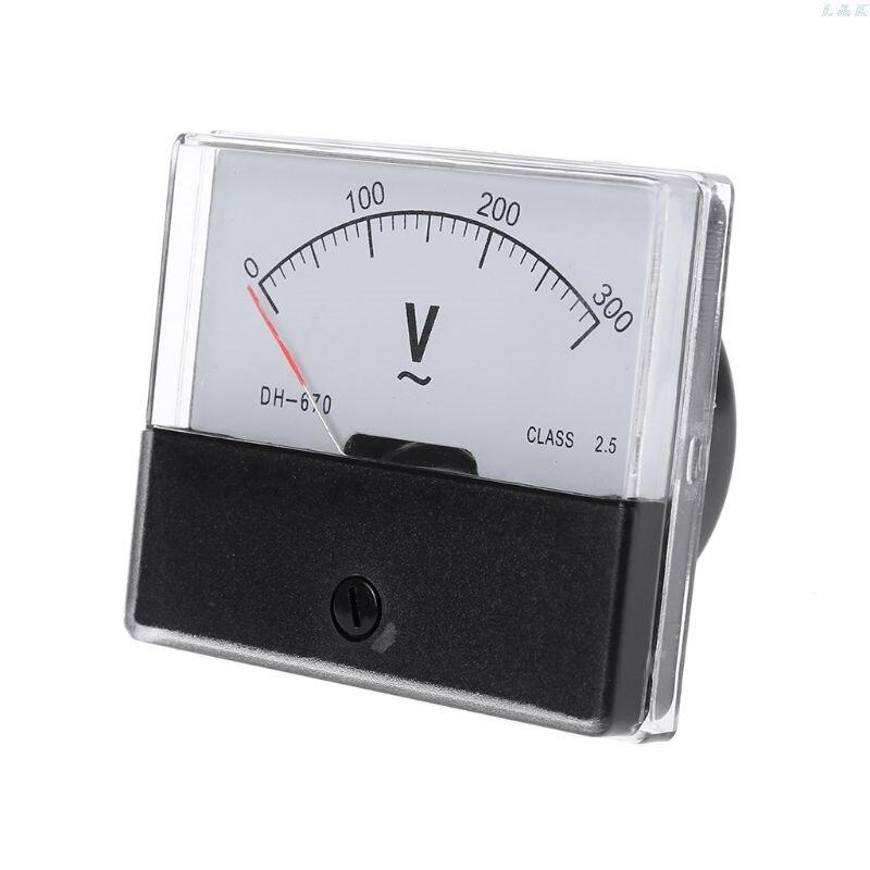 AC 0-300 в аналоговый панельный измеритель вольтметр DH-670 датчик напряжения Панель вольтметр F1FC