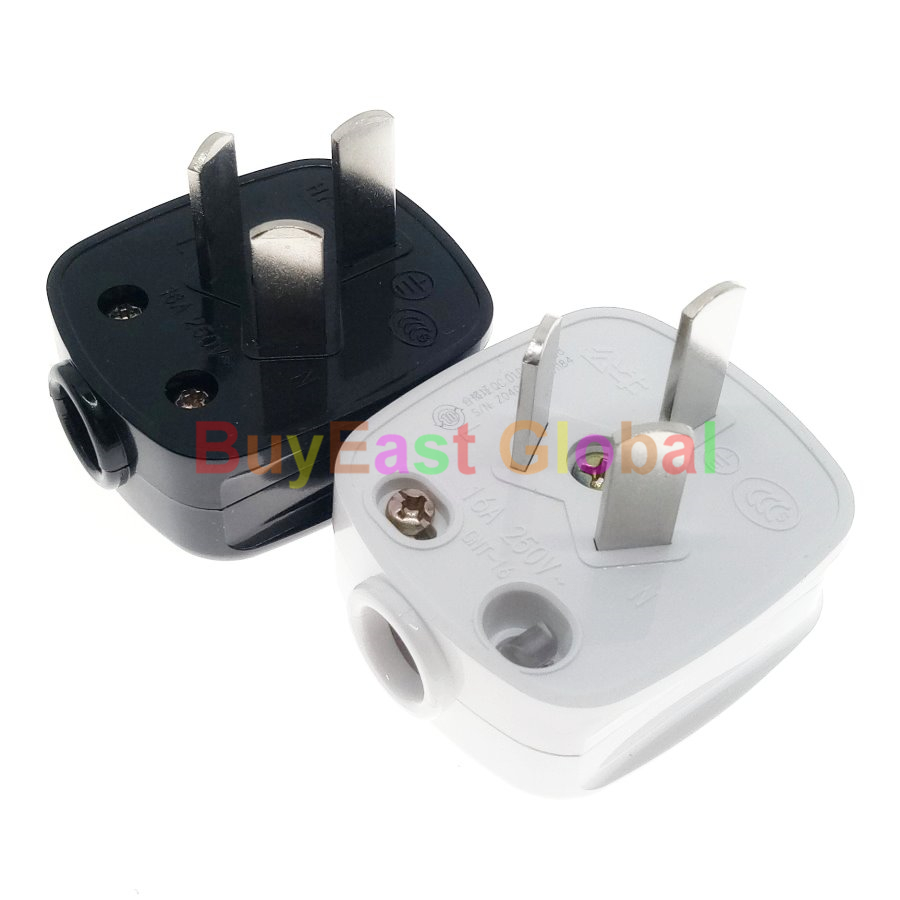 China 16Amp 3-Flat Pin Male Main Power Plug AC100~250V 16A (Work With Xiaomi Smart Companion)