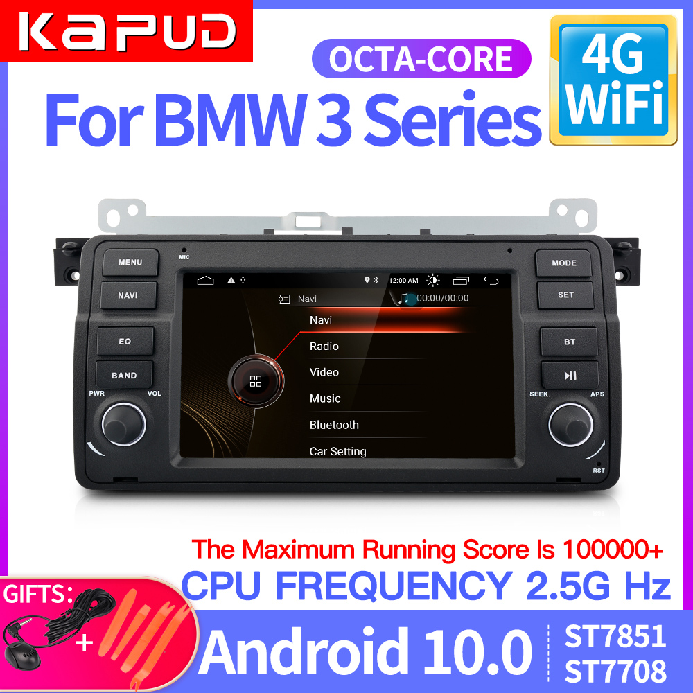 kapud android 10.0 AutoRadio Car Player Stereo For BMW 3 Series E46 Multimedia M3 318/320/325/330/335 1998 2005 GPS Navigation|Car Multimedia Player|   - AliExpress