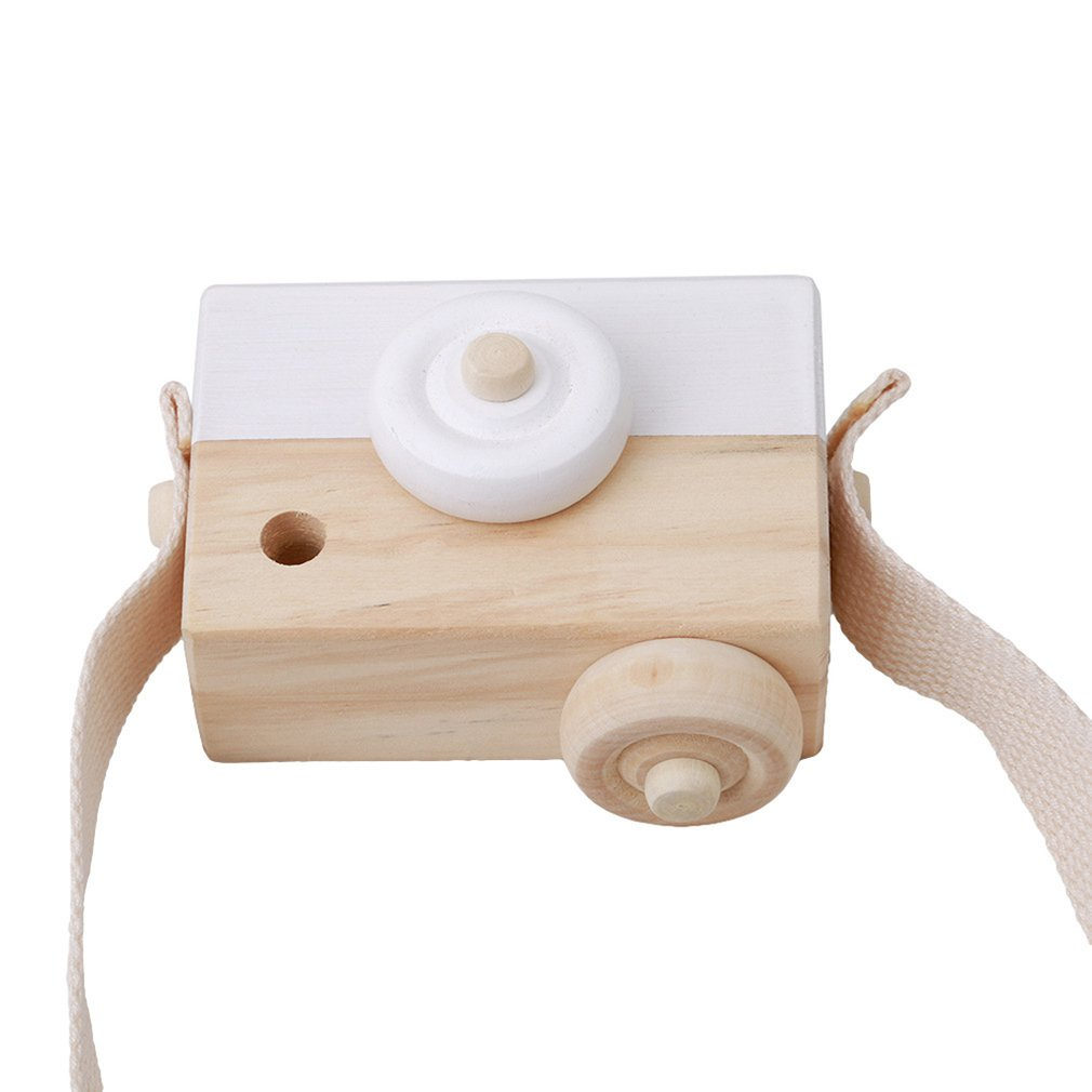 Cute Nordic Hanging Wooden Camera Toys Baby Kids Toys Safe Natural Educational Toys Fashion Home Photography Prop Decor Gifts