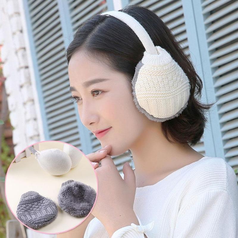 1 PCS Winter Cute Earmuffs Removable And Washable Wool Ear Bag Protection Warm Earmuffs Unisex Travel Cycling Warm Earmuffs
