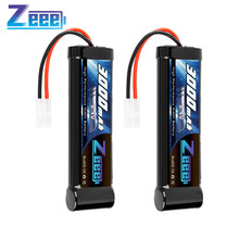 Zeee – batterie NiMH haute puissance 8.4V 3000mAh, 2 unités, avec prise Tamiya pour voiture RC LOSI HPI Tamiya Kyosh associée