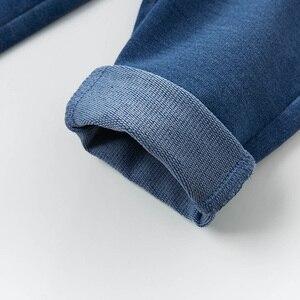 Image 5 - DB13617 dave bella baby girl  spring pants children full length denim blue kids solid pants infant toddler trousers
