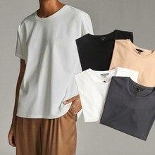 Camisetas básicas de Verano para Mujer, ropa sencilla con cuello redondo, de manga corta de algodón, estilo Harajuku