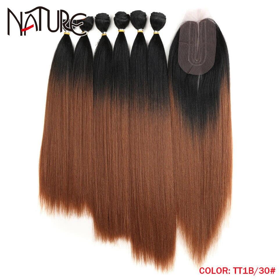 Natural cabelo yaki feixes de cabelo reto